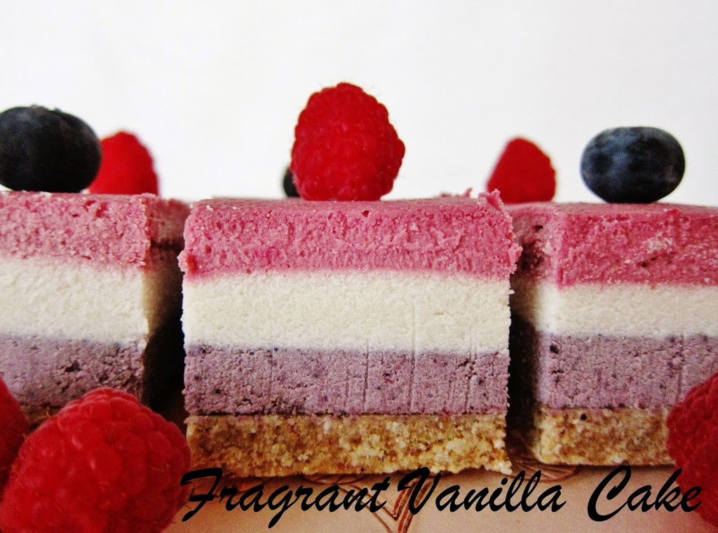 Raw Red White and Blue Layered Berry Bars