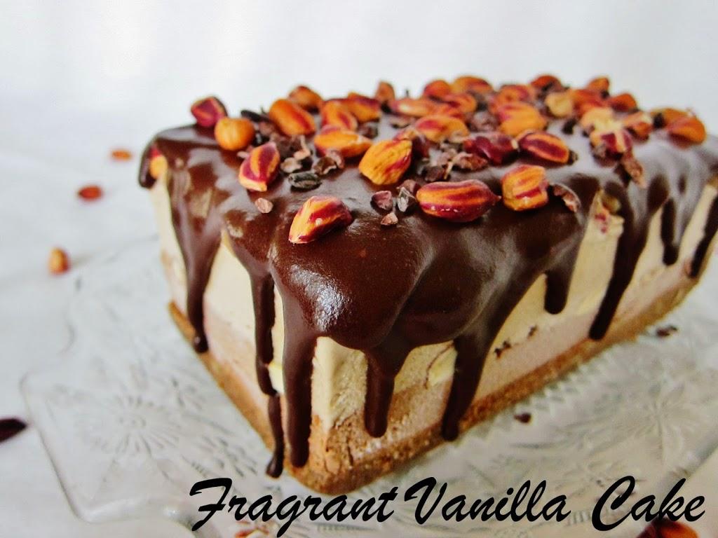Raw Snickers Ice Cream Cake
