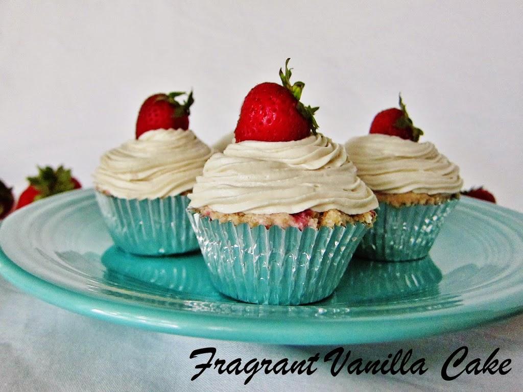 Raw Strawberries and Cream Cupcakes