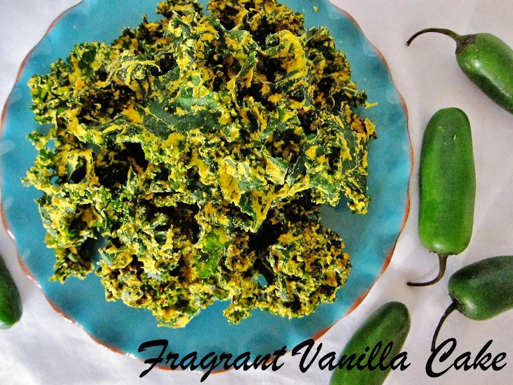 Jalapeno Cheddar Kale Chips