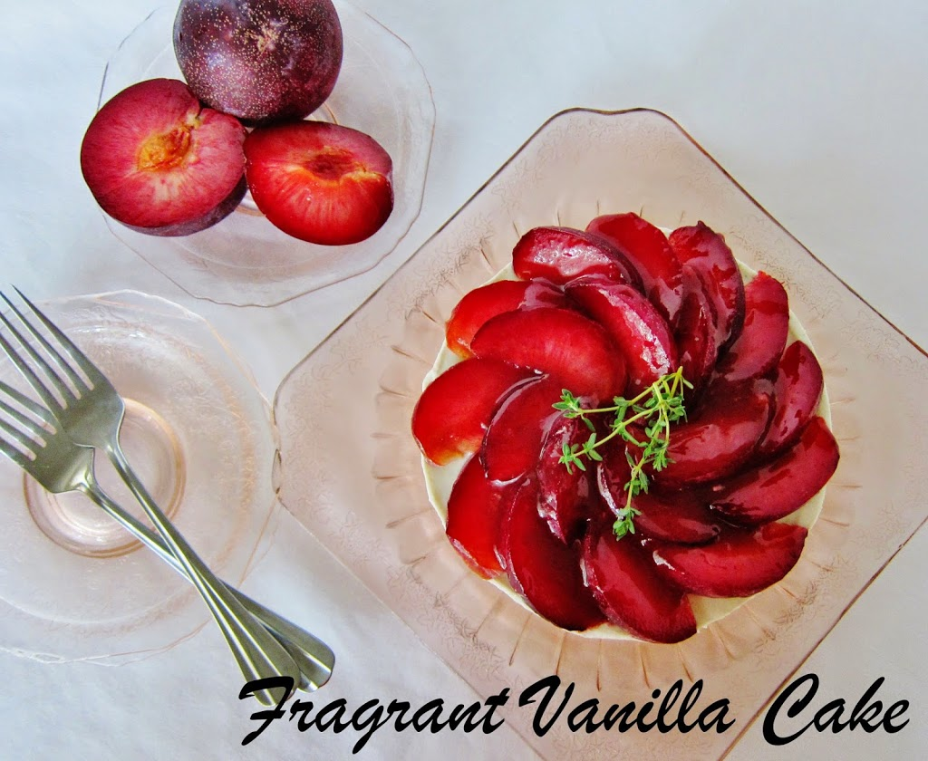 Raw Pluot Thyme Cheesecake