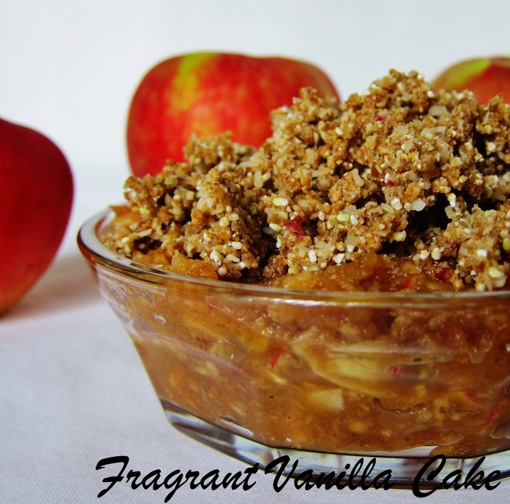 Raw Spicy Sweet Apple Crisp
