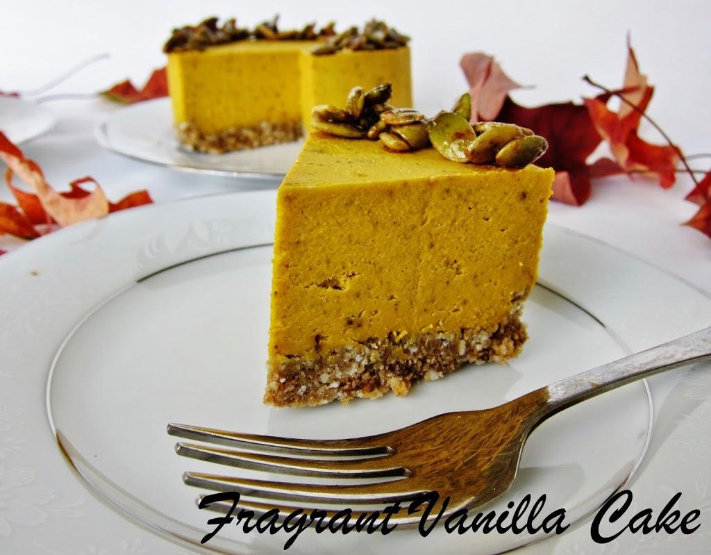 Mini Raw Pumpkin Spice Yogurt Cheesecakes | Fragrant Vanilla Cake