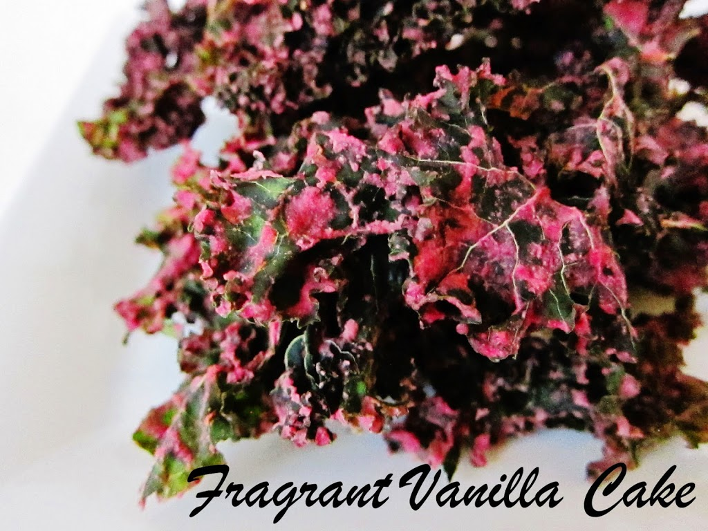 Cranberry Orange Kale Chips