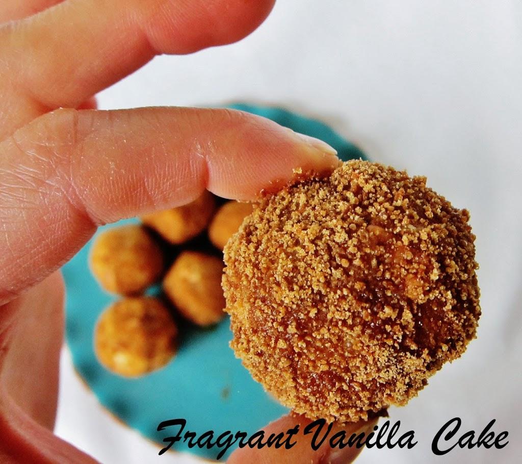 Raw Sweet Potato Pecan Doughnut Holes