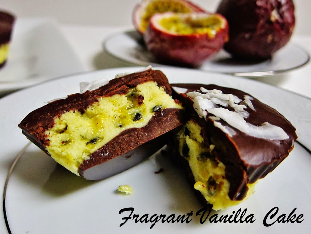 Raw Passion Fruit Chocolate Cups