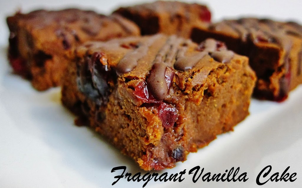 Raw Sweet Potato Cranberry Brownies