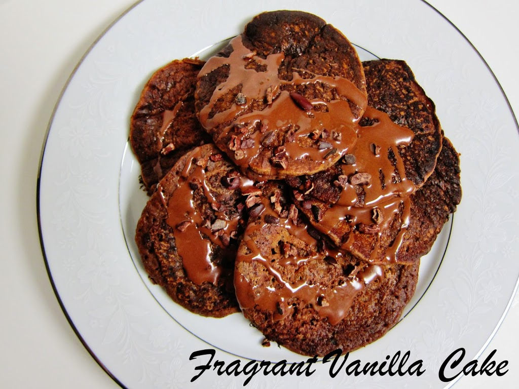 Vegan Chocolate Gingerbread Pancakes