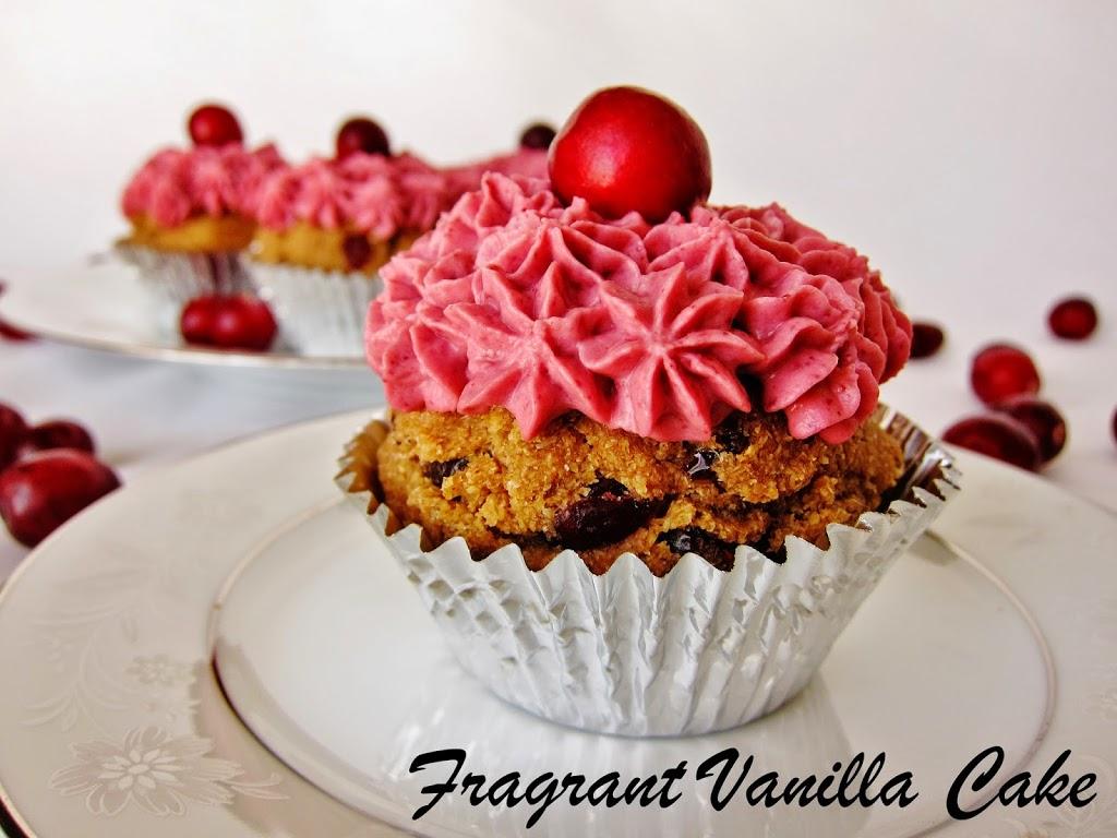 Raw Cranberry Orange Spice Cupcakes