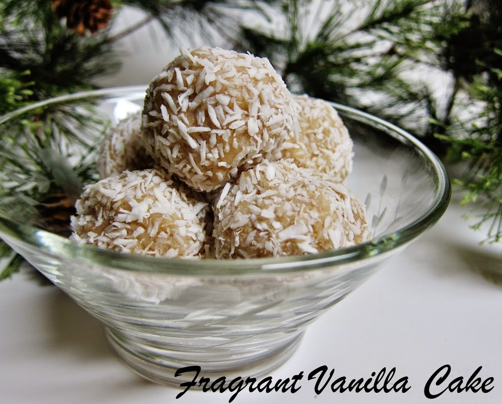 Raw Marzipan Snowballs