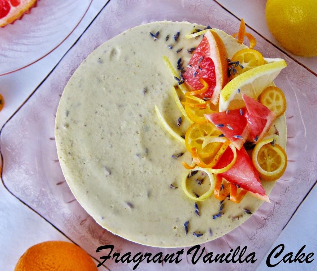 Raw Citrus Lavender Cheesecake