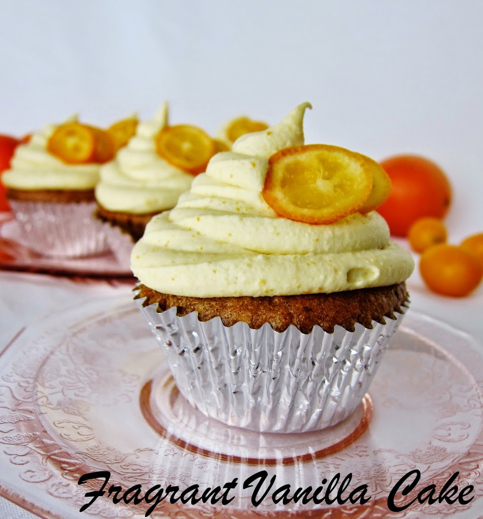 Vegan Kumquat Orange Cupcakes