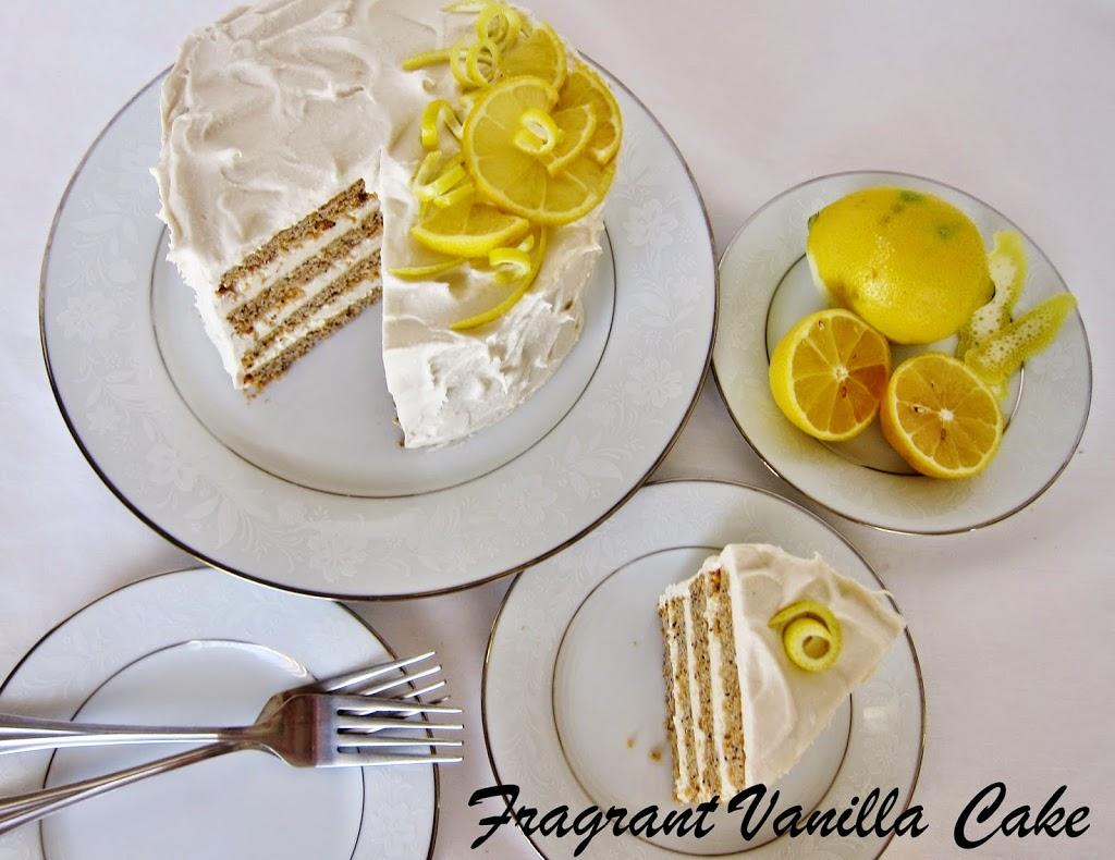 Lemon Poppy Seed Cake Vegan