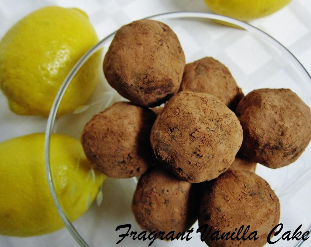 Raw Dark Chocolate Lemon Chia Truffles