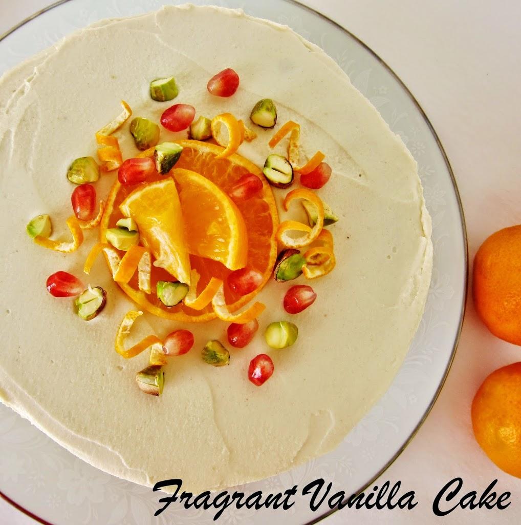 Vegan Orange Blossom Layer Cake