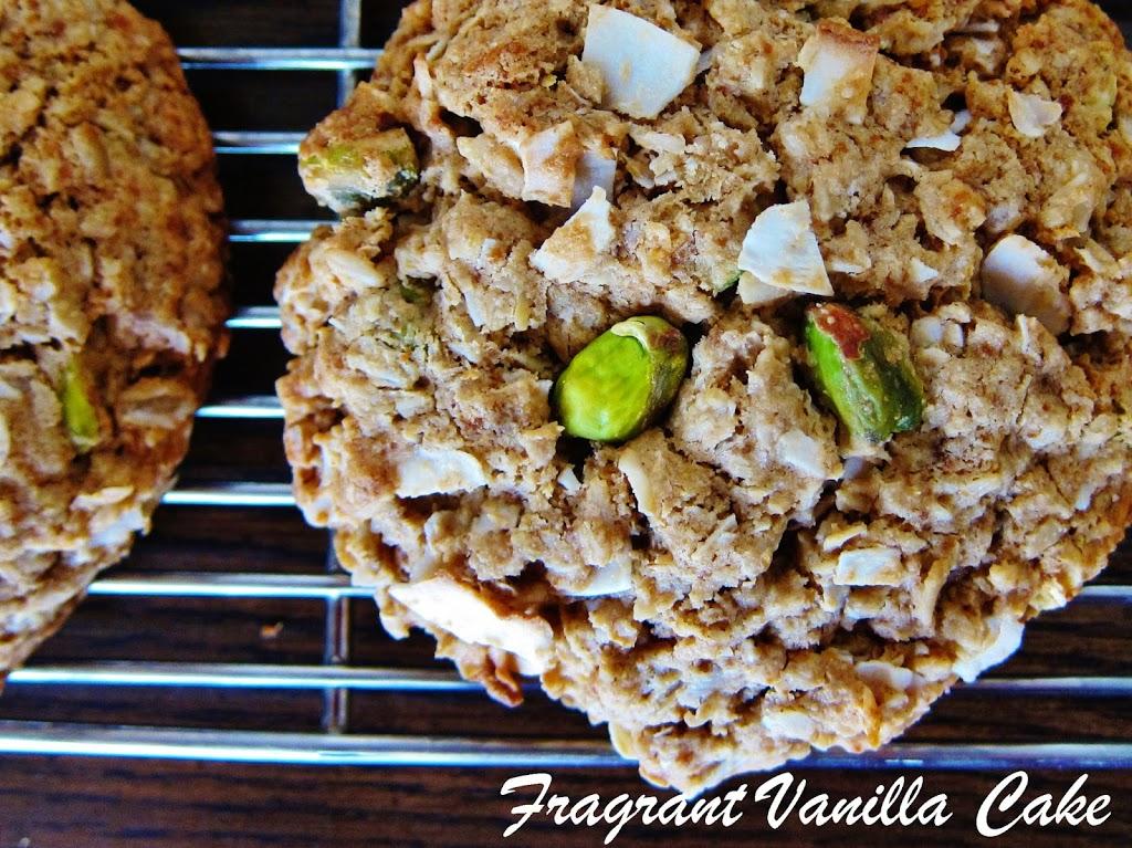 Vegan Coconut Lemon Pistachio Oatmeal Cookies