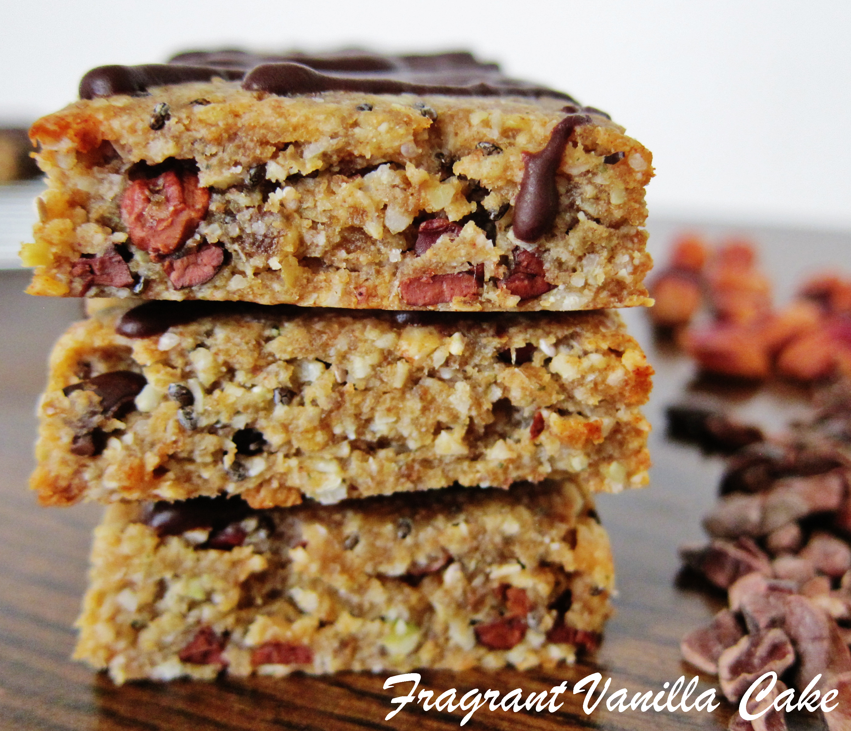 Raw Peanut Butter Chocolate Chip Energy Bars