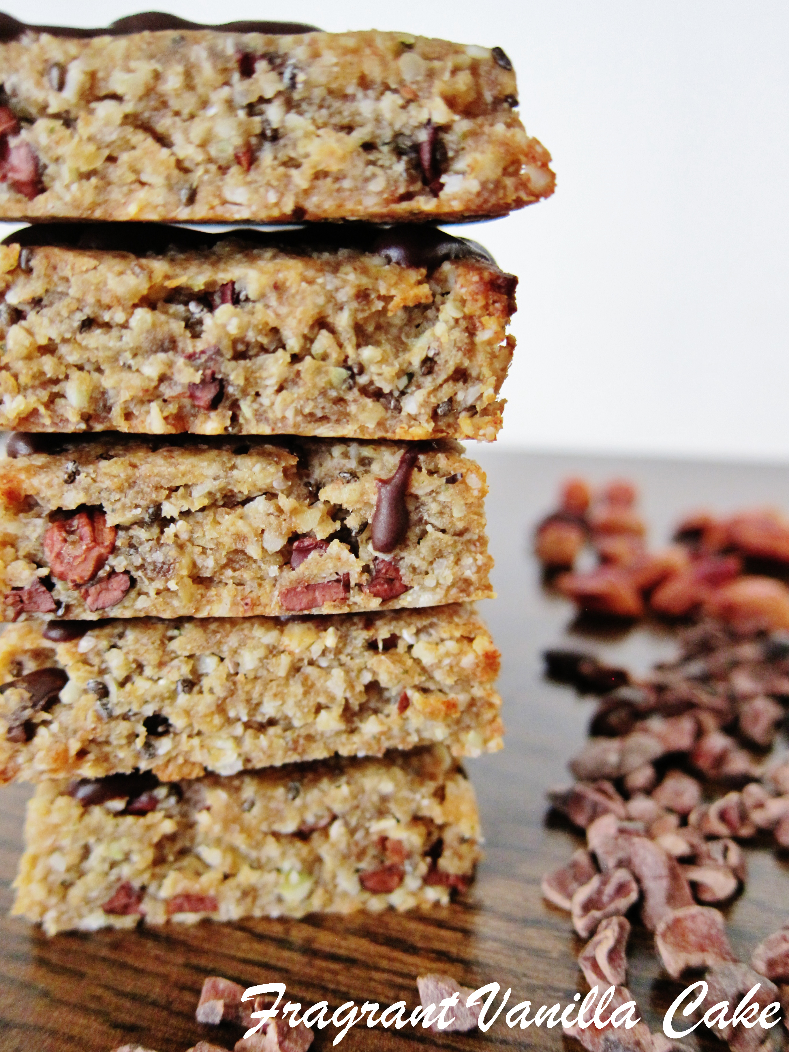 Raw Peanut Butter Chocolate Chip Energy Bars Fragrant