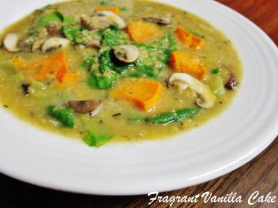 Red Lentil Yam Mushroom Stew 1