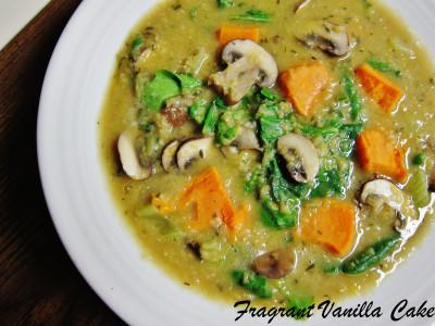 Red Lentil Yam Mushroom Stew 2