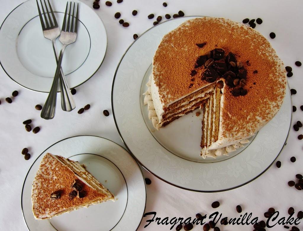 Vegan Tiramisu Layer Cake (gluten free)
