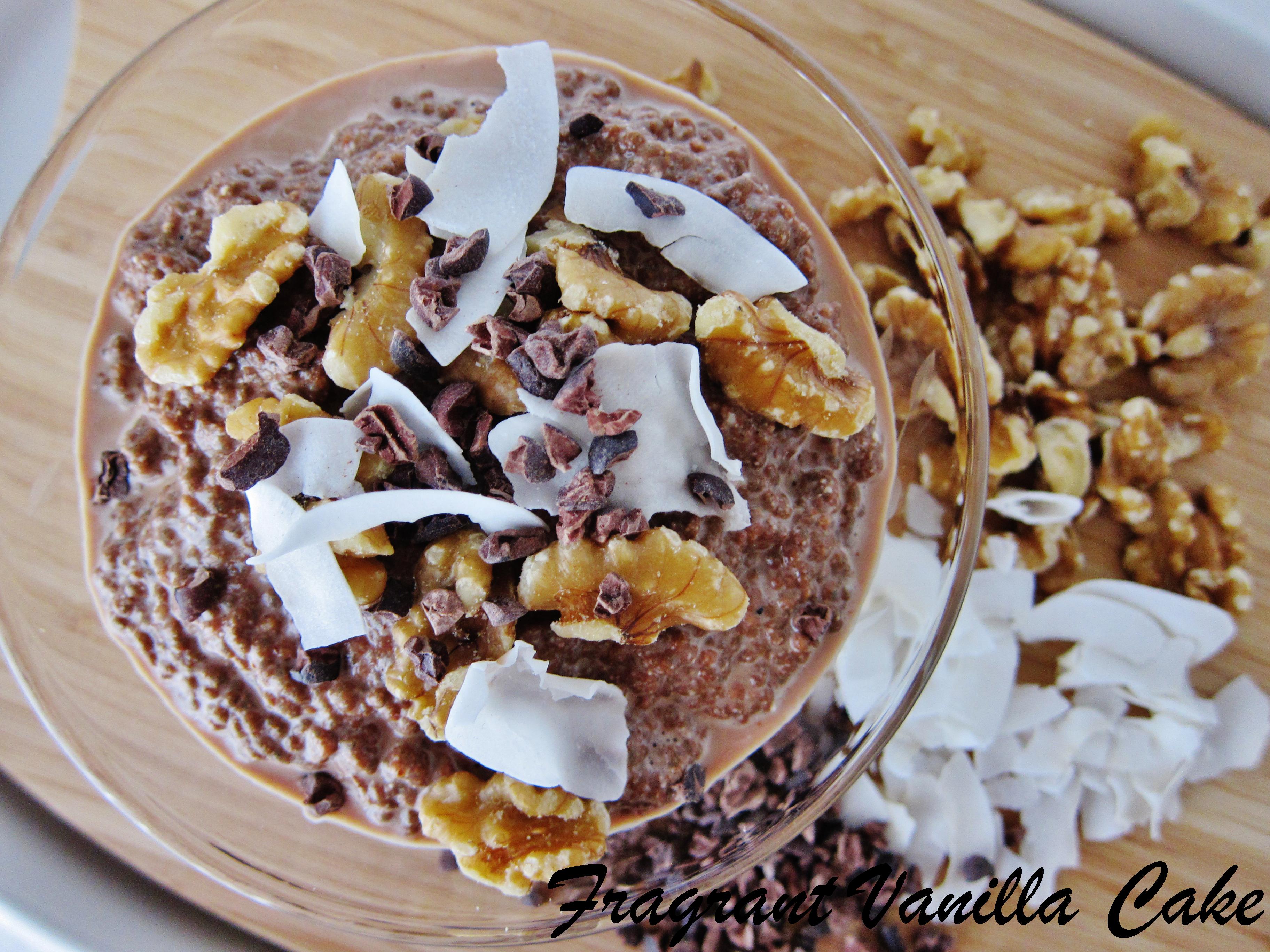 Raw German Chocolate Chia Porridge
