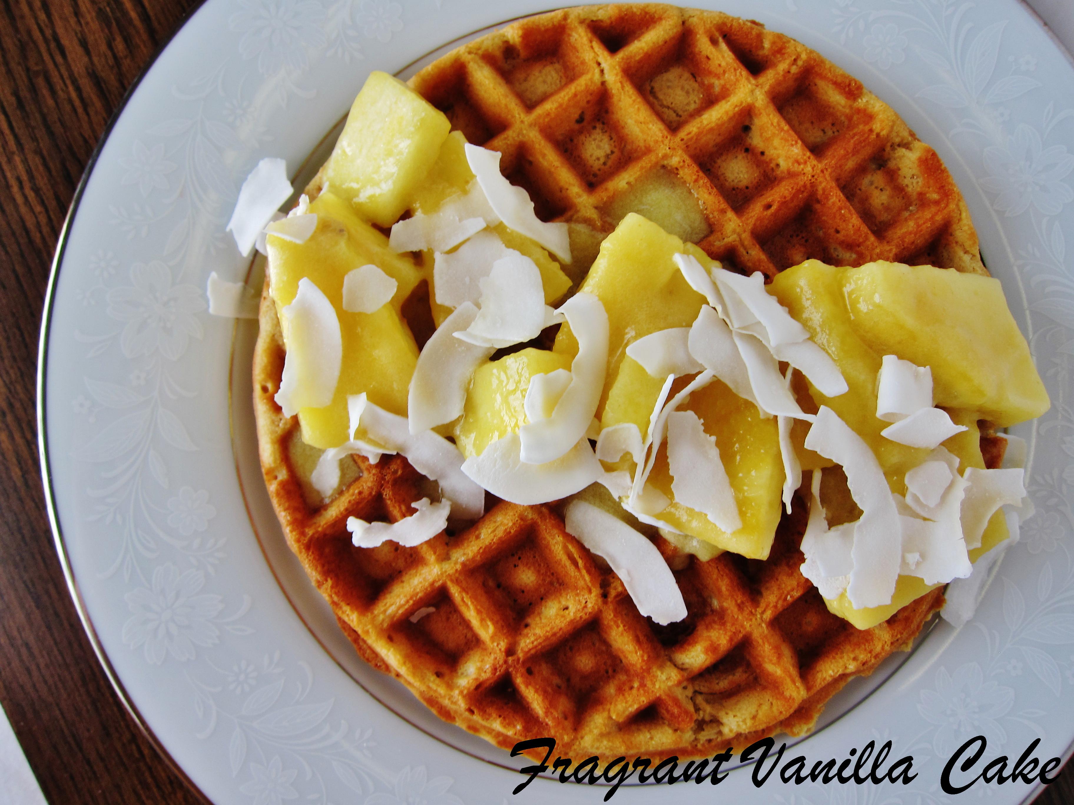 Vegan Piña Colada Waffles