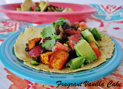 Roasted Yam and Black Bean Tacos 3