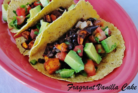 Roasted Yam and Black Bean Tacos