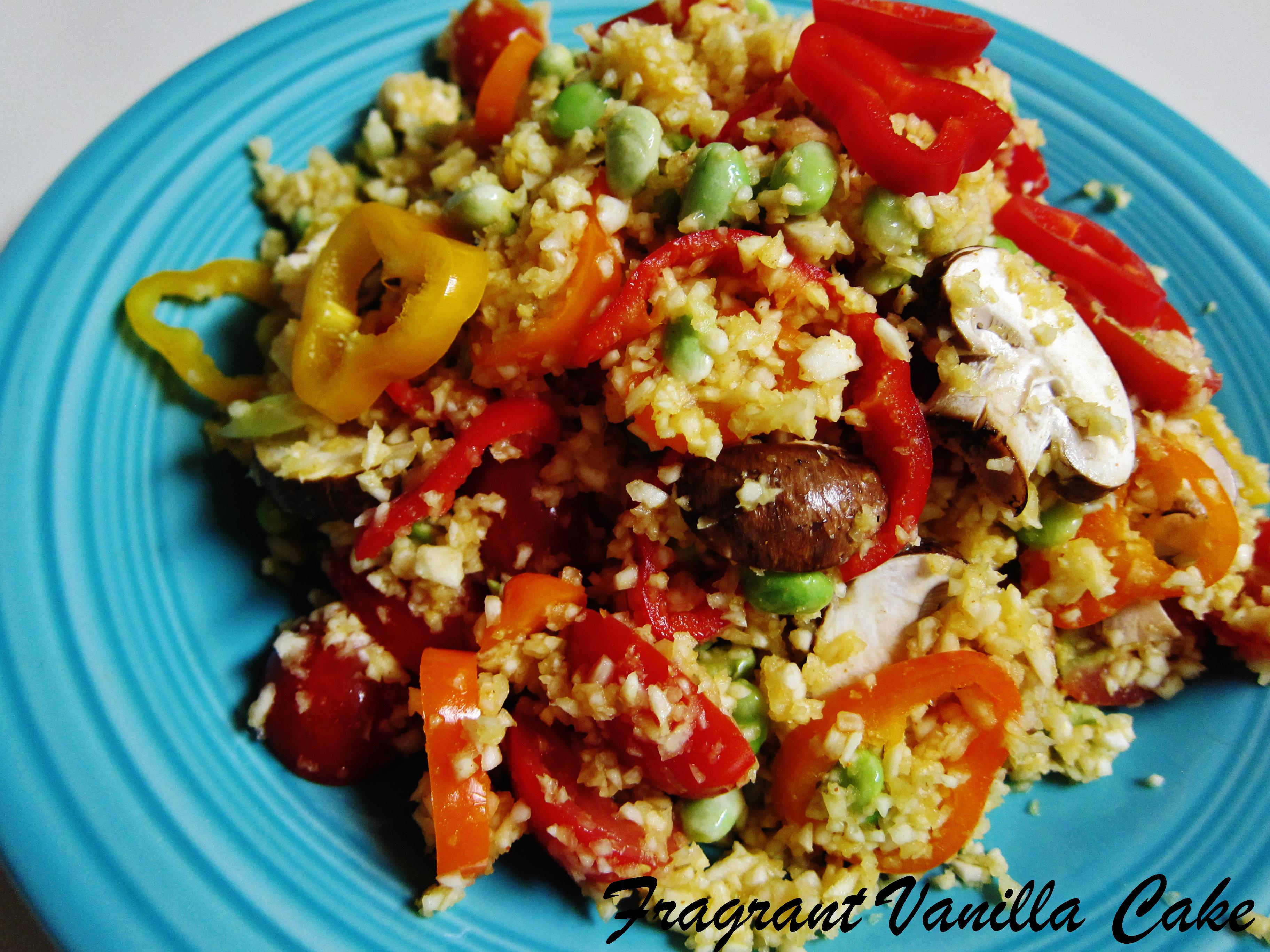 Raw Veggie Paella