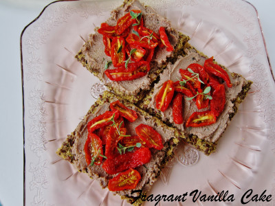 Walnut Chevre Tomato Flatbreads