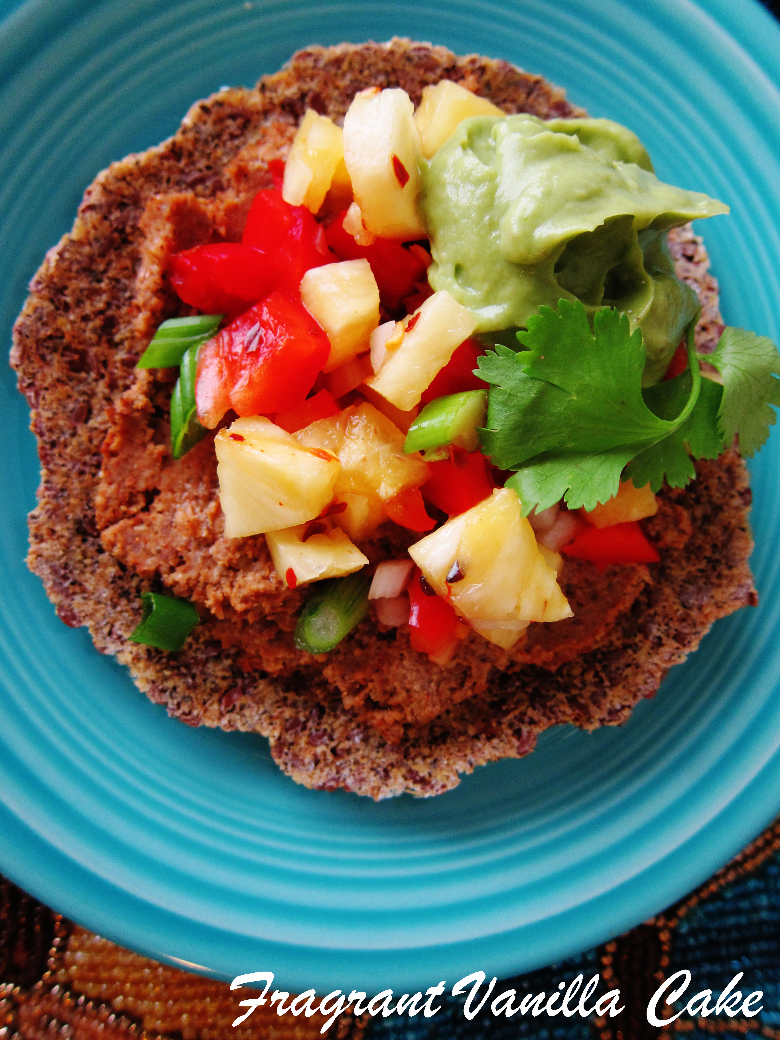 Raw Lentil Tostadas with Pineapple Salsa