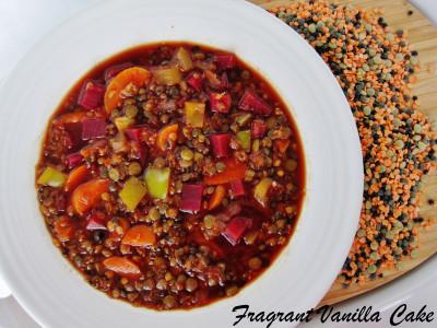Veggie Lentil Soup 2