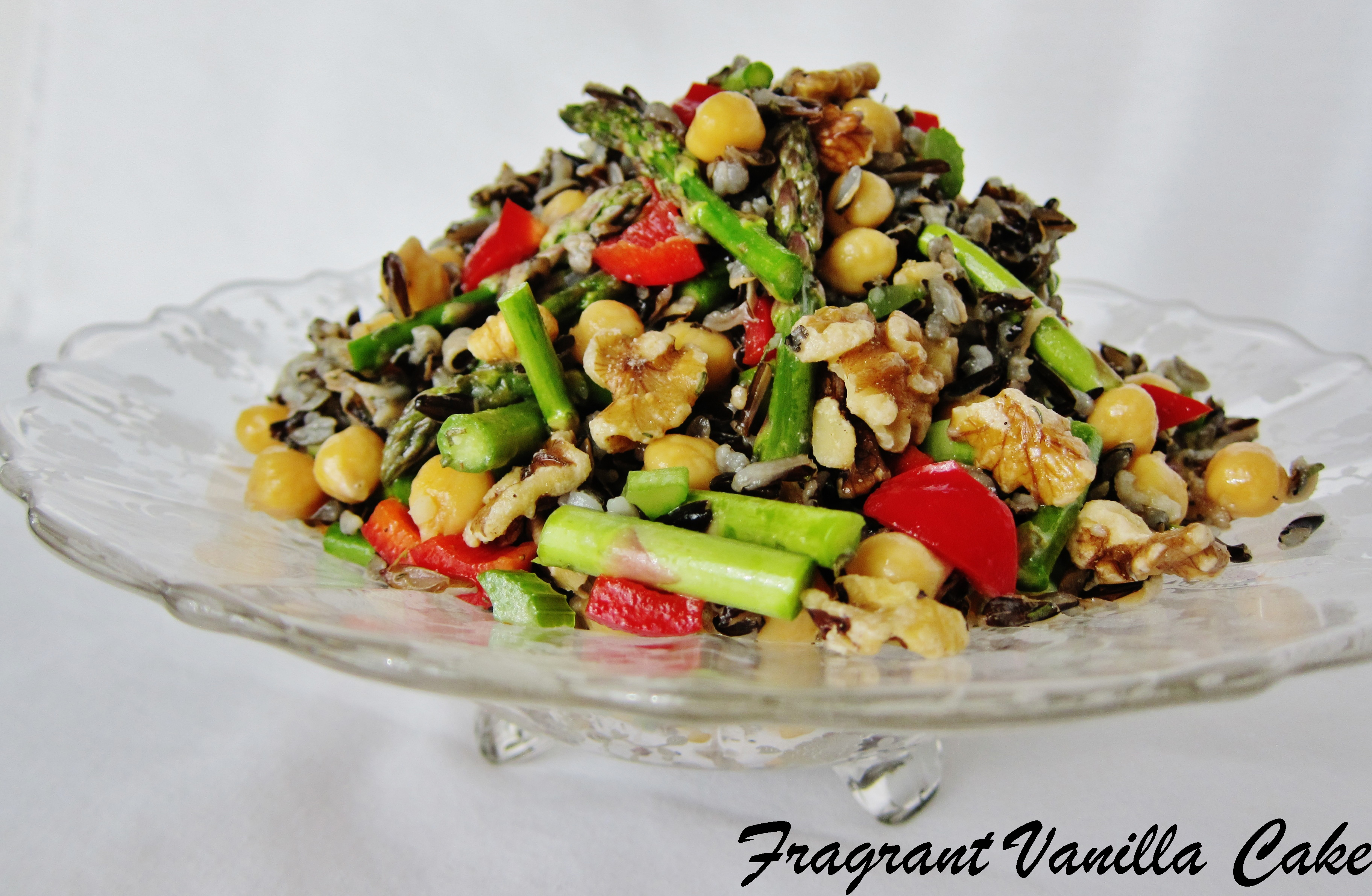 Wild Rice Salad with Chickpeas and Asparagus | Fragrant Vanilla Cake