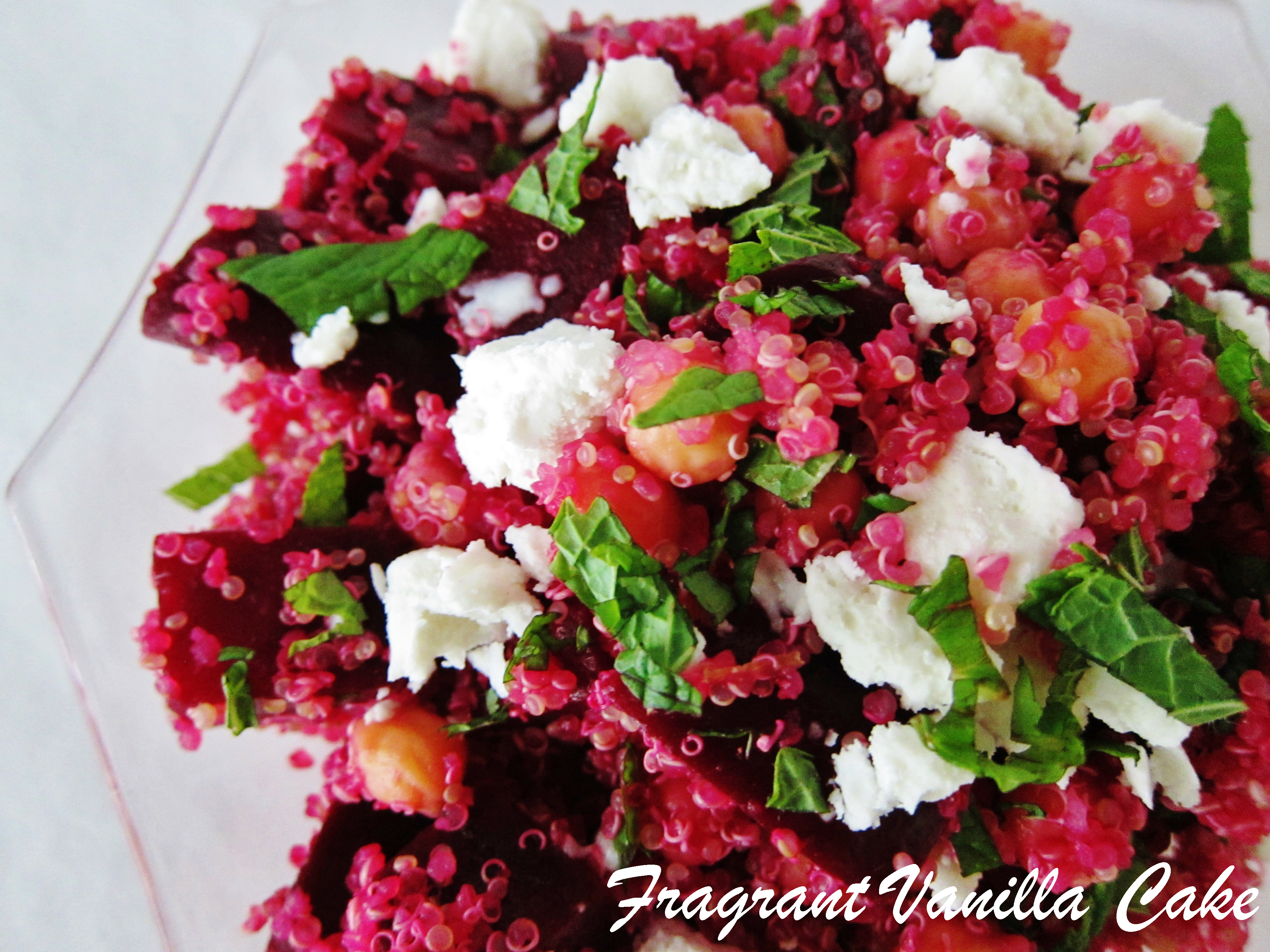 Roasted Beet and Quinoa Salad with Chickpeas