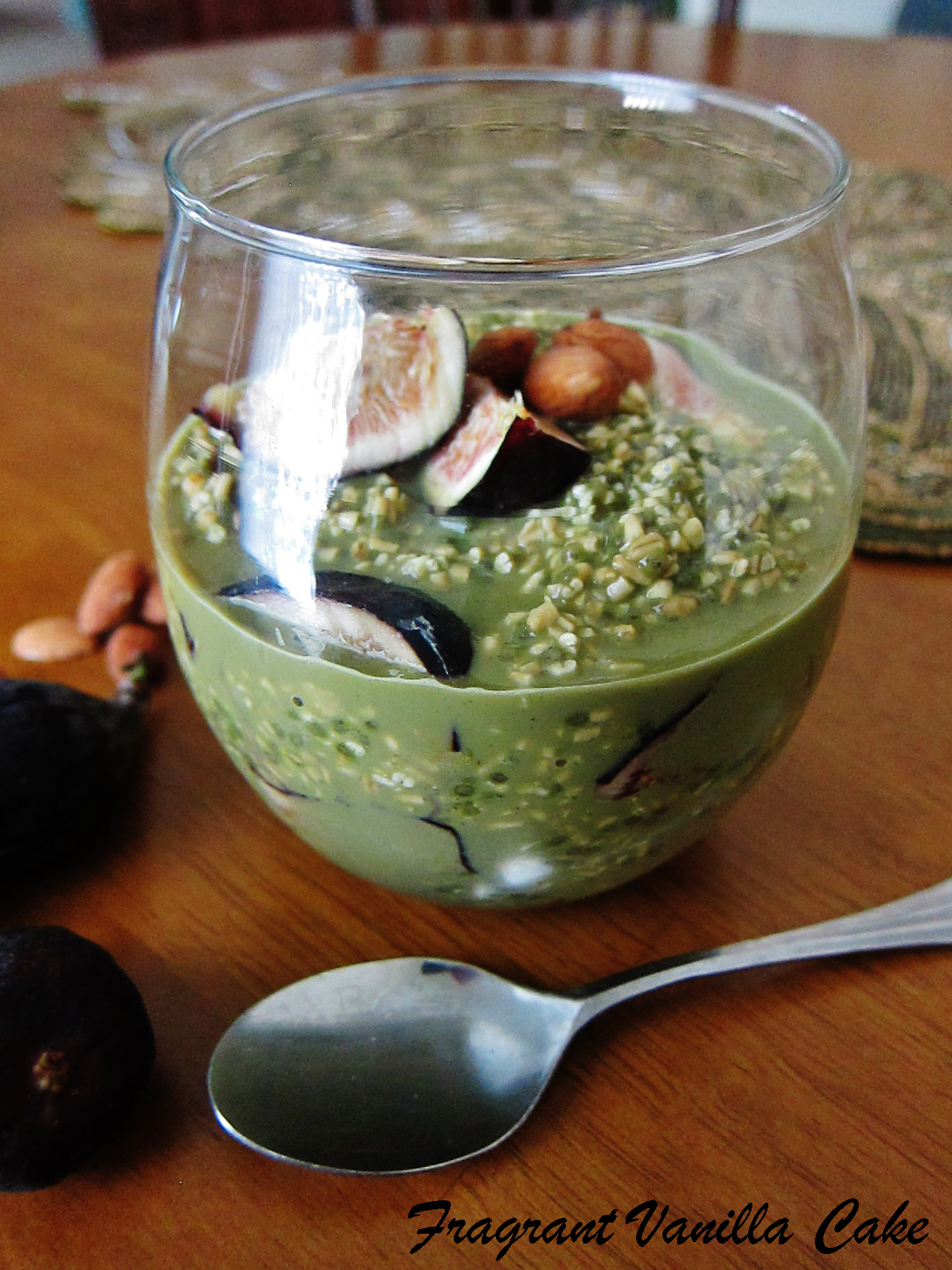 Matcha Almond Fig Overnight Oats