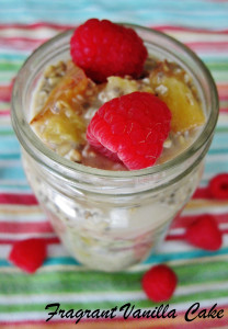 Peach Melba Oats