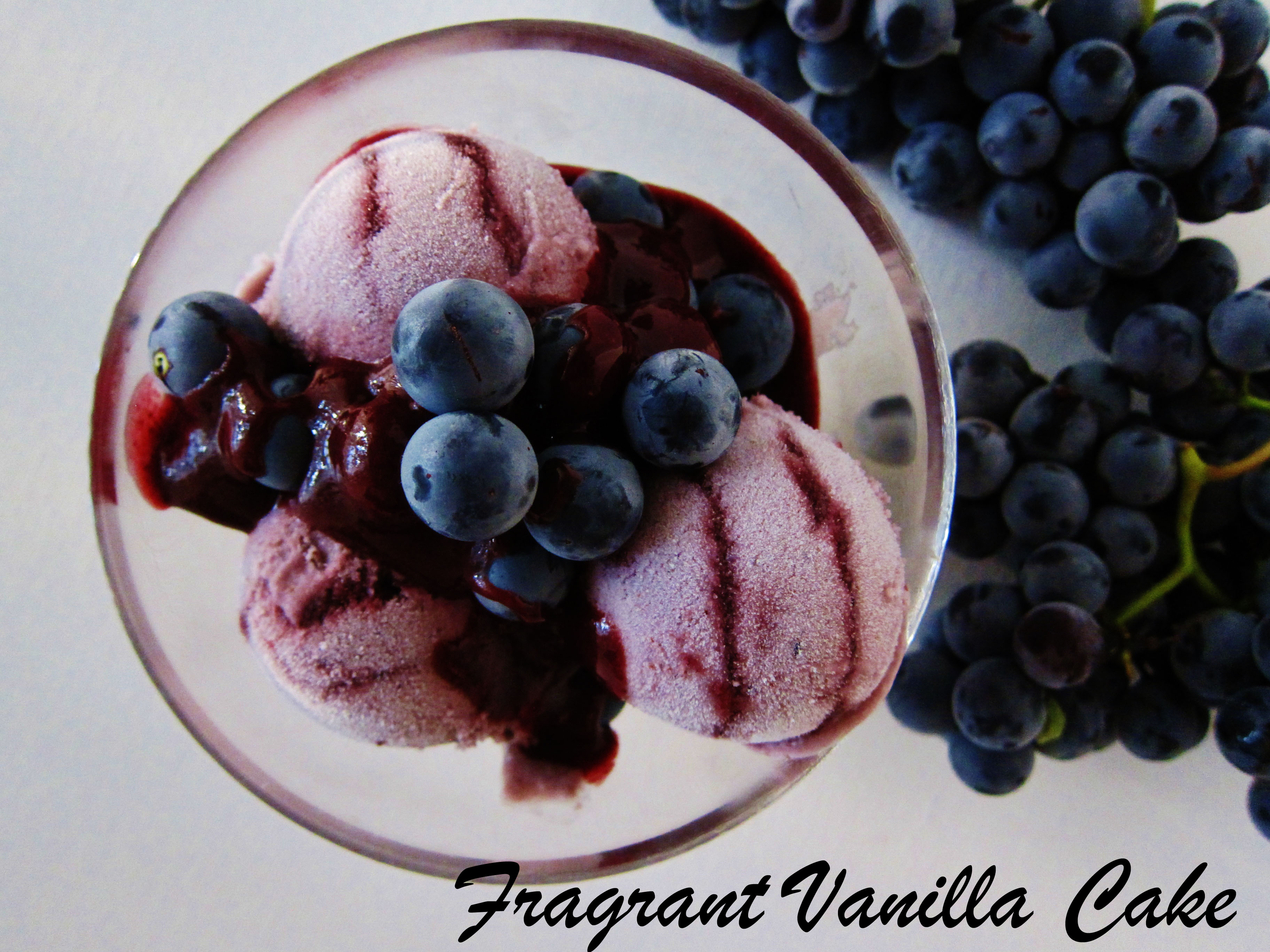 sour grape ice cream This ice-cream has a sweet, creamy, rich base with a subtle crunch from the grape-nuts it's lower in sugar (stevia replaces some of the sugar) and lower in eggs, but.