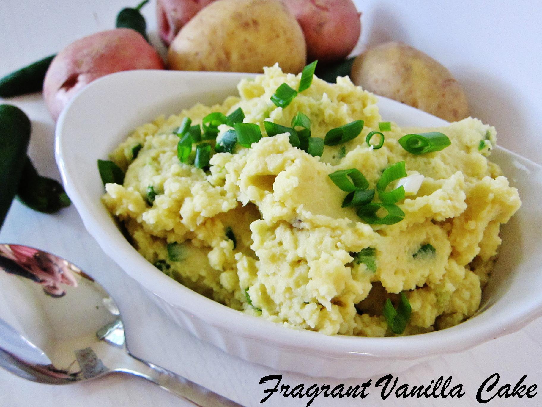 Vegan Jalapeno Cheddar Mashed Potatoes