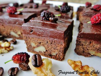 Mocha Walnut Brownies 1