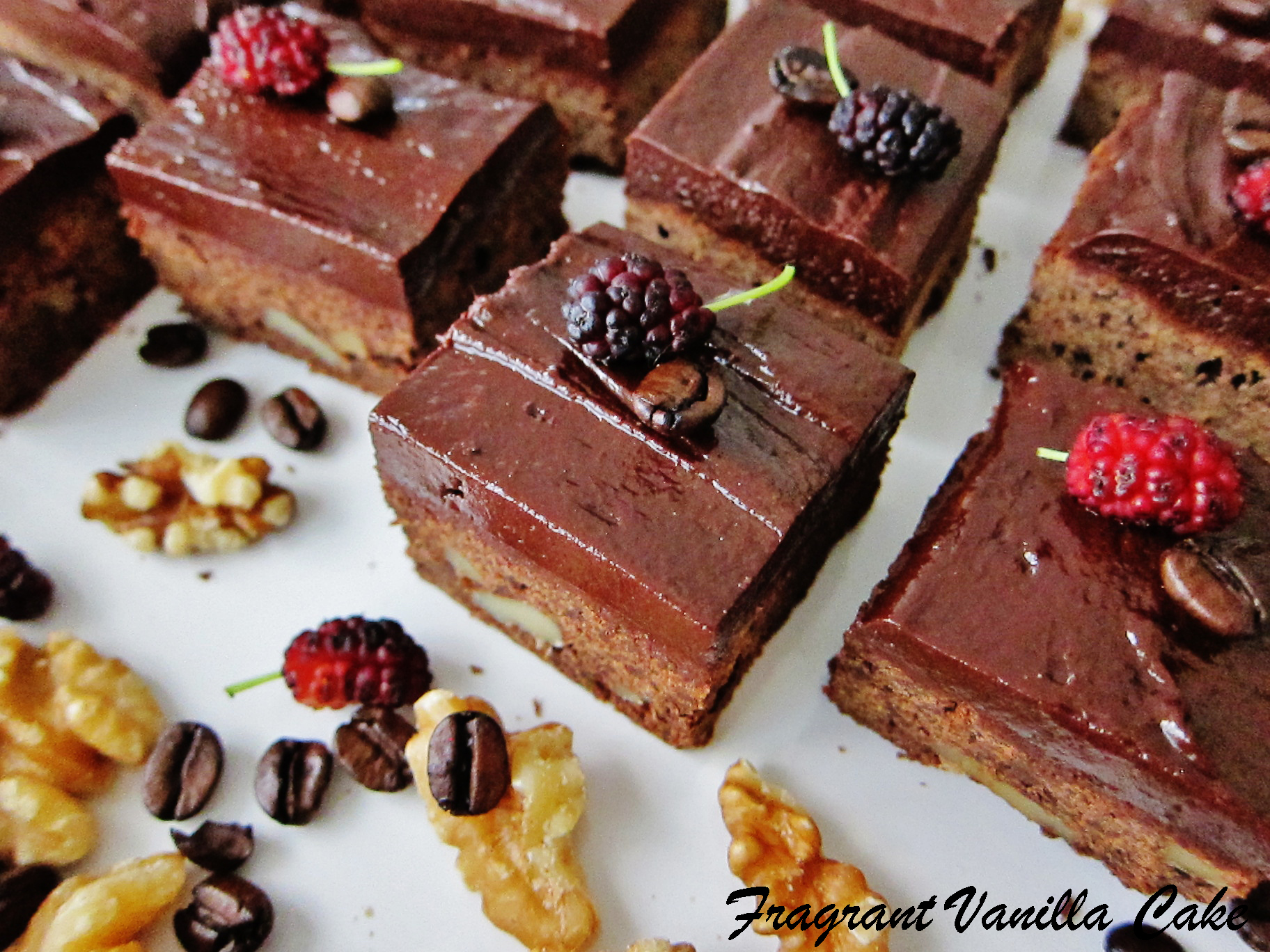 Vegan Mocha Walnut Brownies