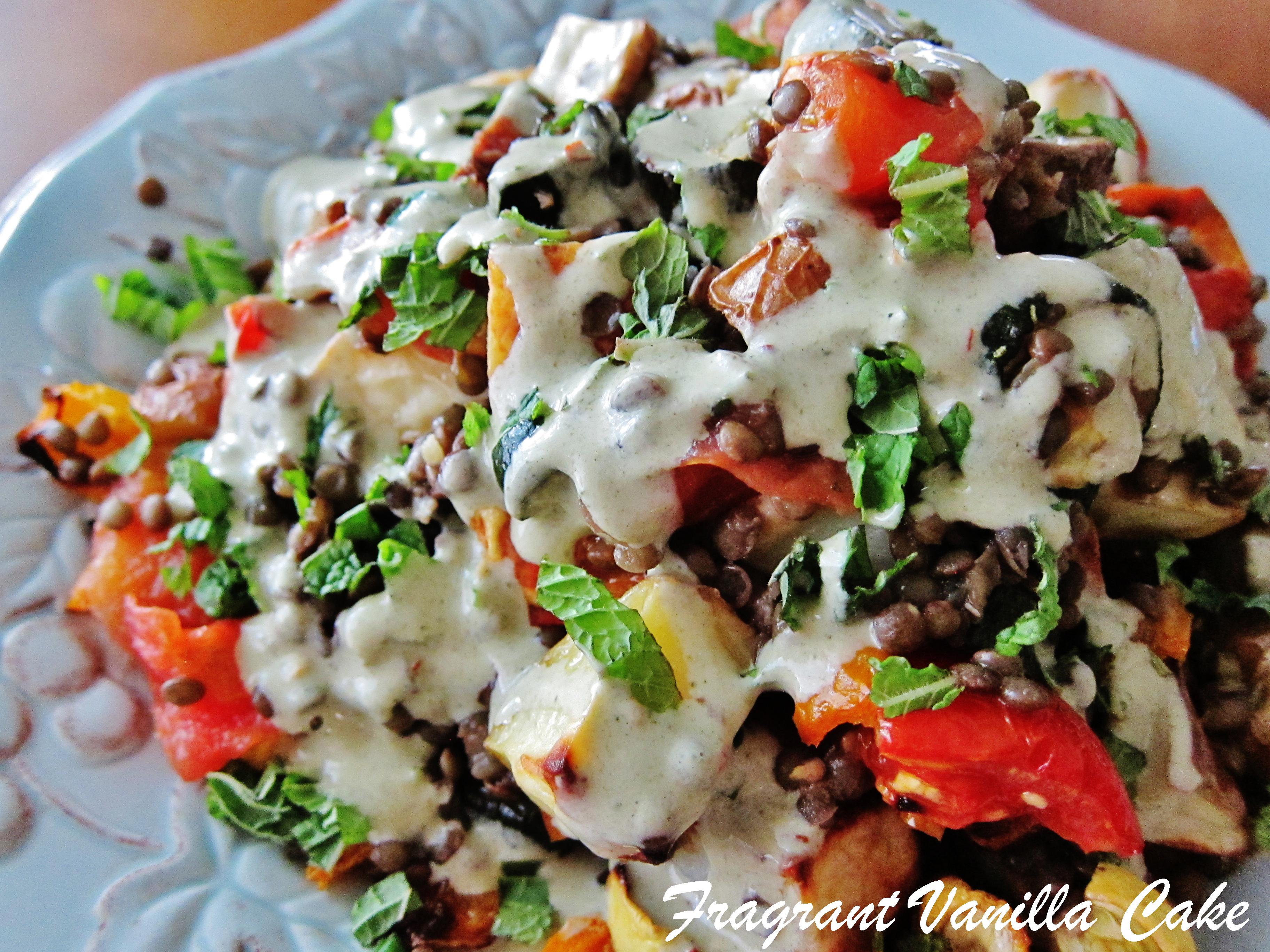 Roasted Vegetable Barley Salad With Lemon Vinaigrette Recipe ...