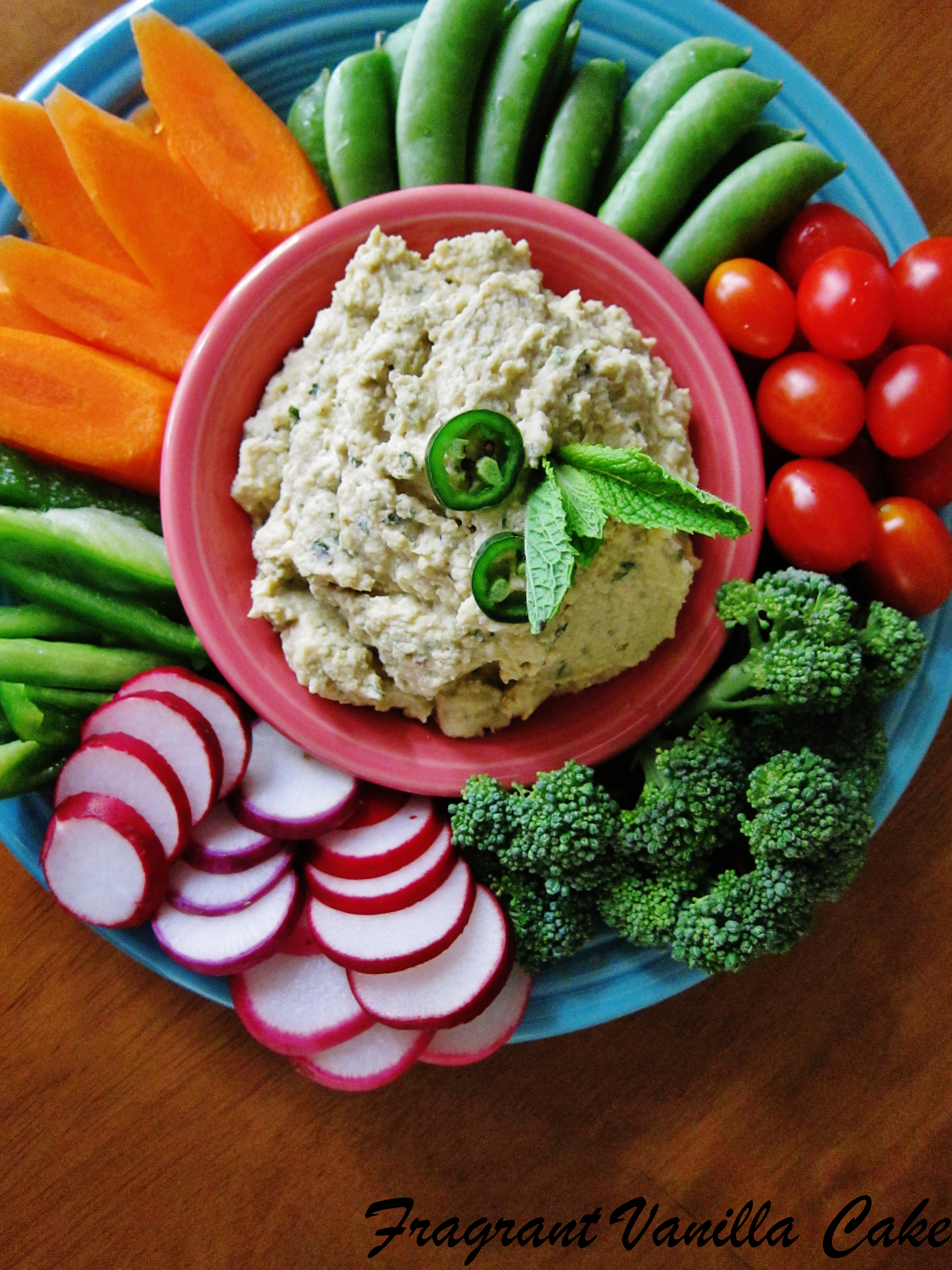 Spicy Jalapeno Mint Hummus