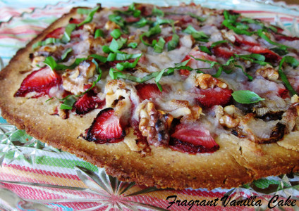 Strawberry Basil Pizza 1