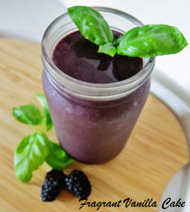 Blackberry Basil Ginger Smoothie 1