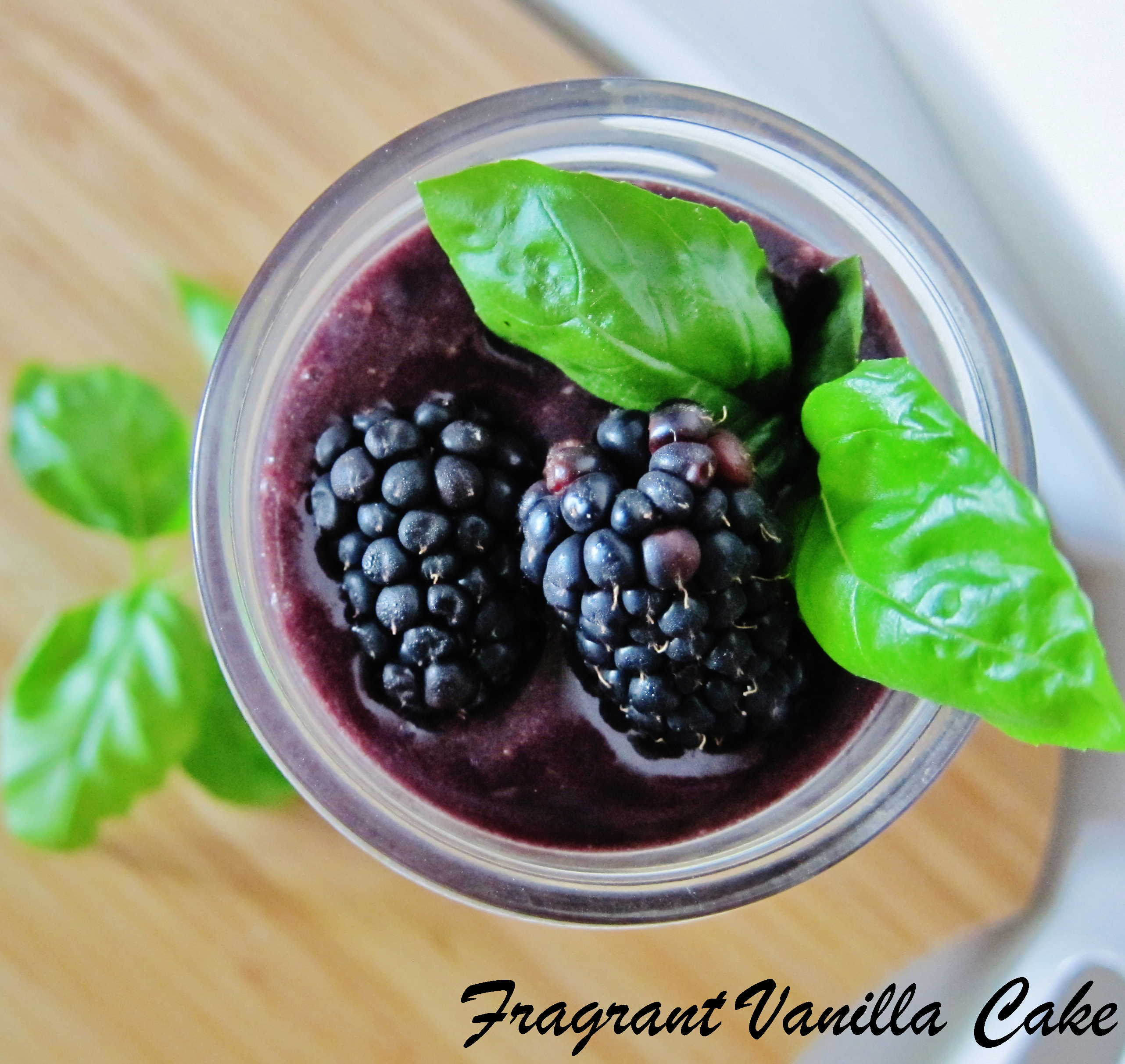 2 Summer Berry Smoothies- Double Berry Lavender and Blackberry Basil Ginger