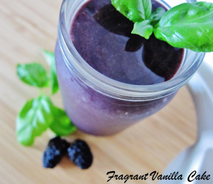 Blackberry Basil Ginger Smoothie