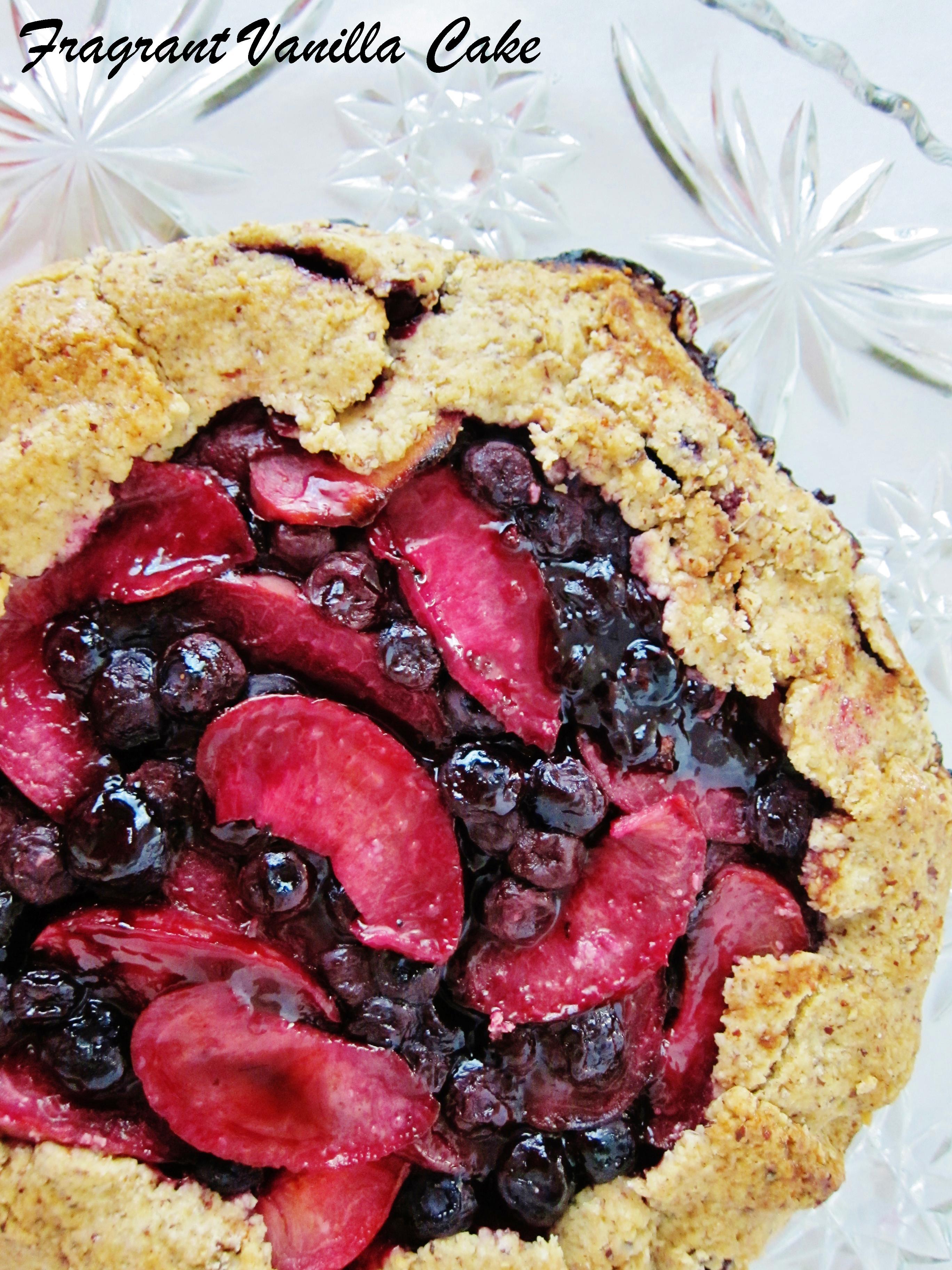 Vegan Blueberry Pluot Galette with Hazelnut Oat Crust