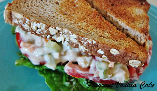 Chipolte Chickpea Salad Sandwich