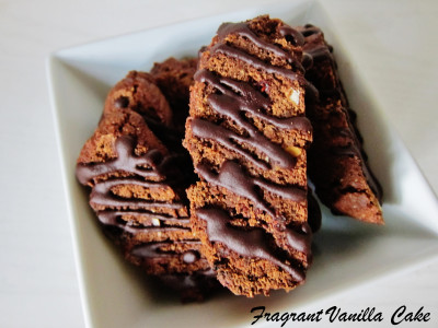 Chocolate Hazelnut Raspberry Biscotti
